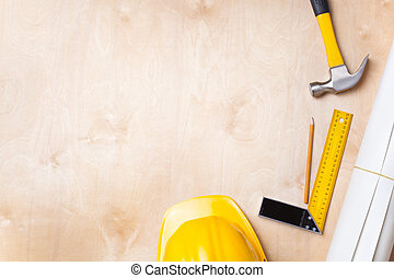 construction background - selective focus on part of hammer ...