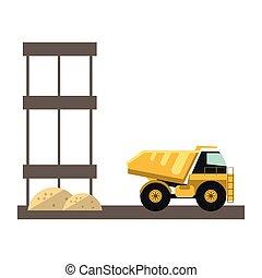 Construction backhoe isolated - Construction backhoe vehicle...