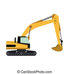 Construction backhoe vehicle