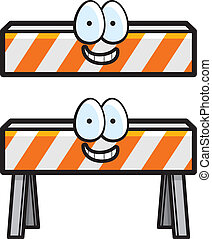Construction Barricade - A cartoon construction barricade...