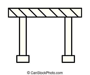 construction barricade fence icon