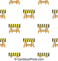 Construction barricade icon in cartoon style isolated on white background. Build and repair symbol stock vector illustration.