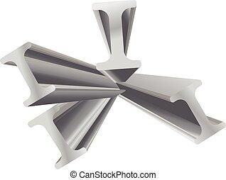 construction beam vector 3d object design