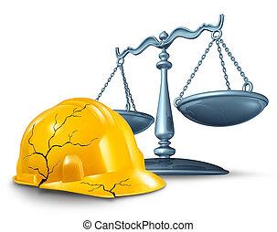 construction, blessure, droit & loi