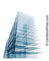 construction bleu, bureau