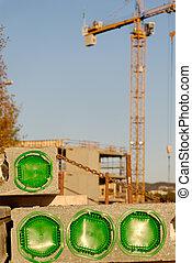 Construction Block & Cran - Conclreted block at a...