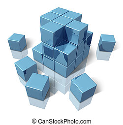 Construction blocks as an abstract 3d structure of basic...