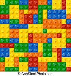 construction, blocs, plastique