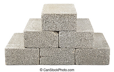 construction, blocs, pyramide