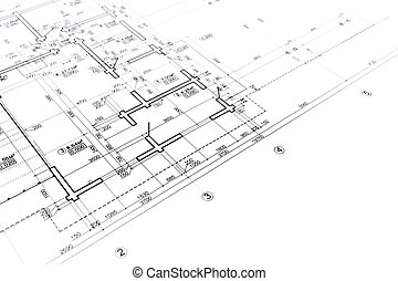 Construction blueprint drawing tools on construction plan stock construction blueprint malvernweather Images