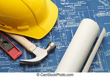 Construction Blueprints - Blueprints and Construction Tools...