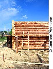 construction, bois, bâtiment