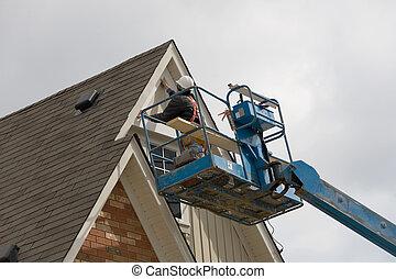 construction boom lift.