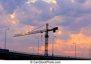 Construction bridge