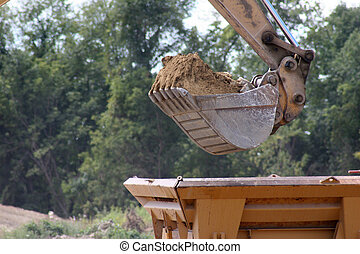 Construction - Bucket of a Backhoe