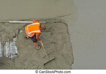 Construction builder leveling cement