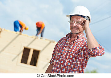 Construction builder worker at site