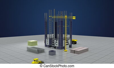 Construction building process animation 2