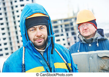 construction building site foreman