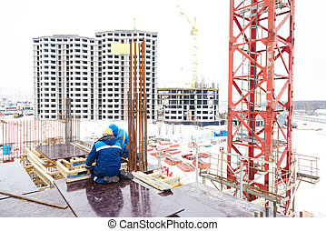construction building site workers