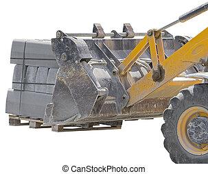 construction, bulldozer, chantier