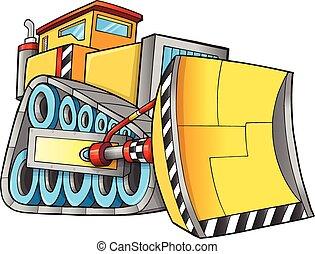 Construction Bulldozer Vector Art