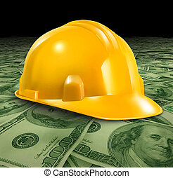 Construction Business - Construction business with a yellow...