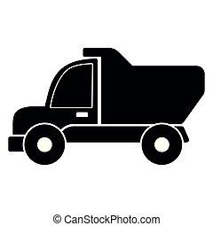 construction, camion jouet, isolé, gosses