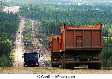 construction, camion, site