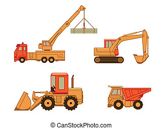 Construction cars | Set 1 - Excavator, truck, auto and wheel...