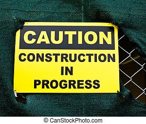 Construction Caution Sign