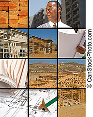 Construction Collage - Collection and collage of in progress...
