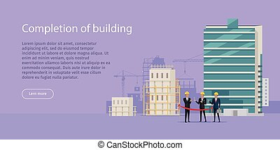 Construction Completion Building Design Web Banner -...