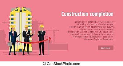 Construction Completion Building Design Web Banner