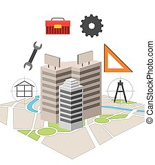 construction concept design, vector illustration eps10 ...