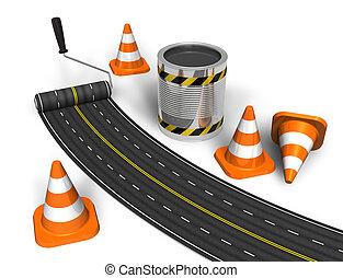 construction, concept, route