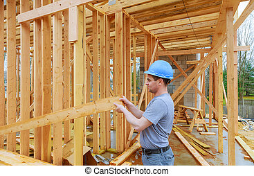 Construction Contractors building new home