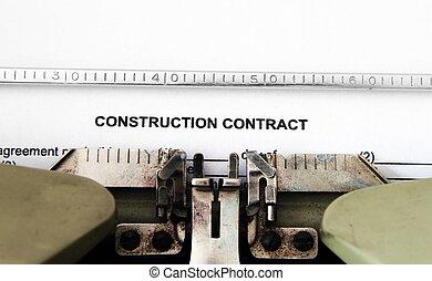 construction, contrat