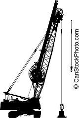 Construction crane 2 vector