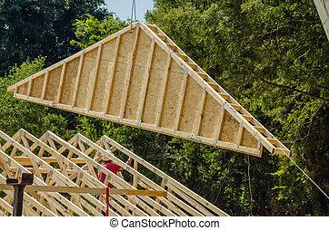 construction crane at a job site