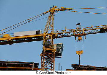 Construction  crane. Detail