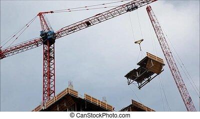 construction crane on building site