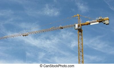 construction crane on sky