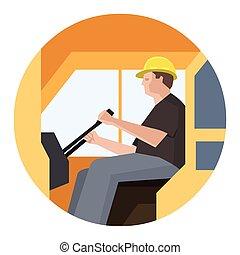Construction crane operator - Construction crane machine...