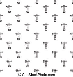 Construction crane pattern seamless