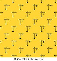 Construction crane pattern vector