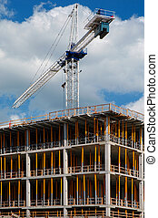 Construction crane - medical school construction at the open...