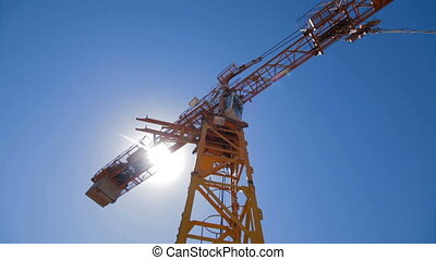 Construction crane working
