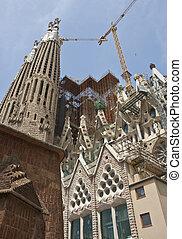 Construction Cranes on Sagrada Familia