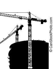 Construction Cranes one